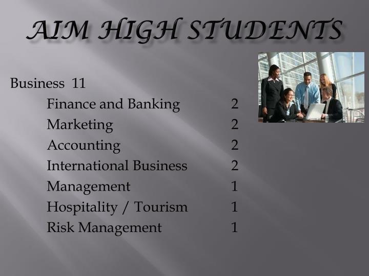 AIM High students