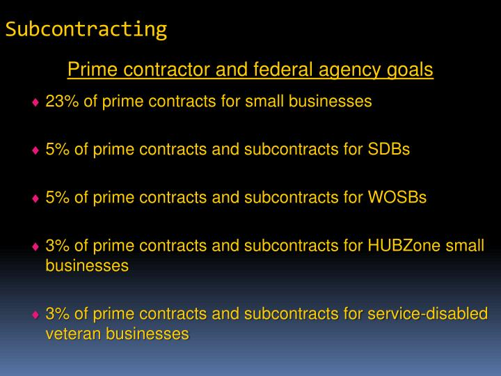 Subcontracting