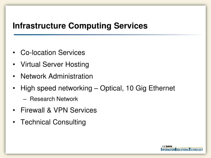 Infrastructure Computing Services