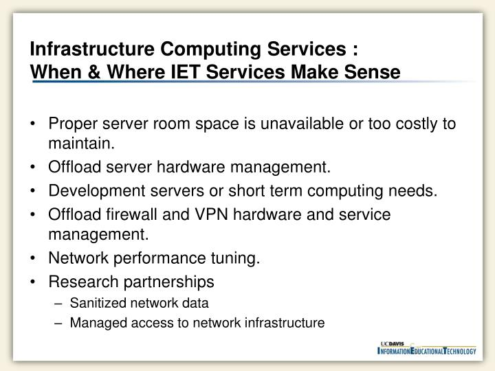 Infrastructure Computing Services :