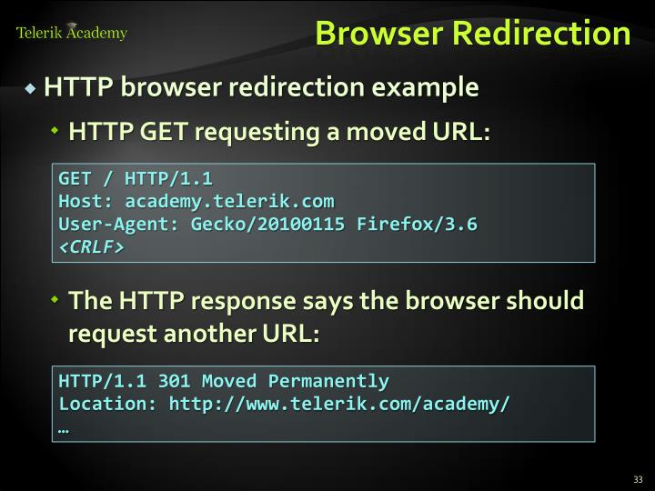 Browser Redirection