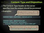 content type and disposition