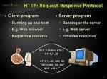http request response protocol