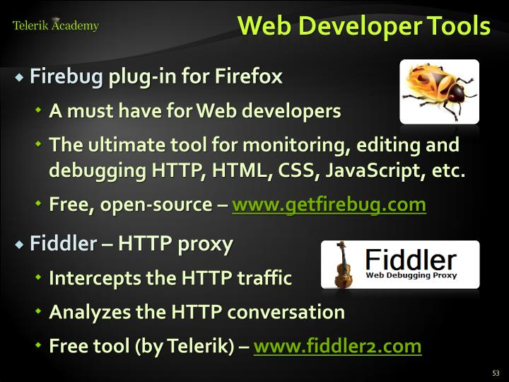Web Developer Tools