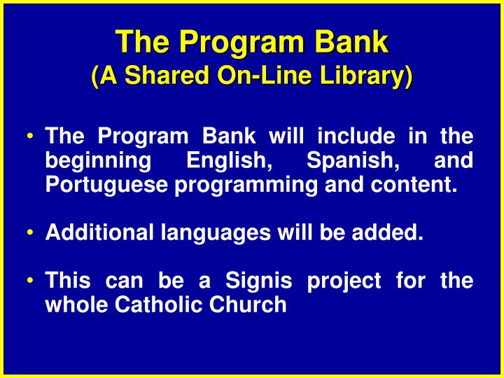 The Program Bank