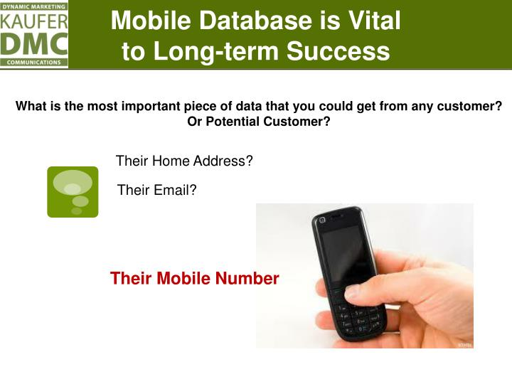 Mobile Database is Vital
