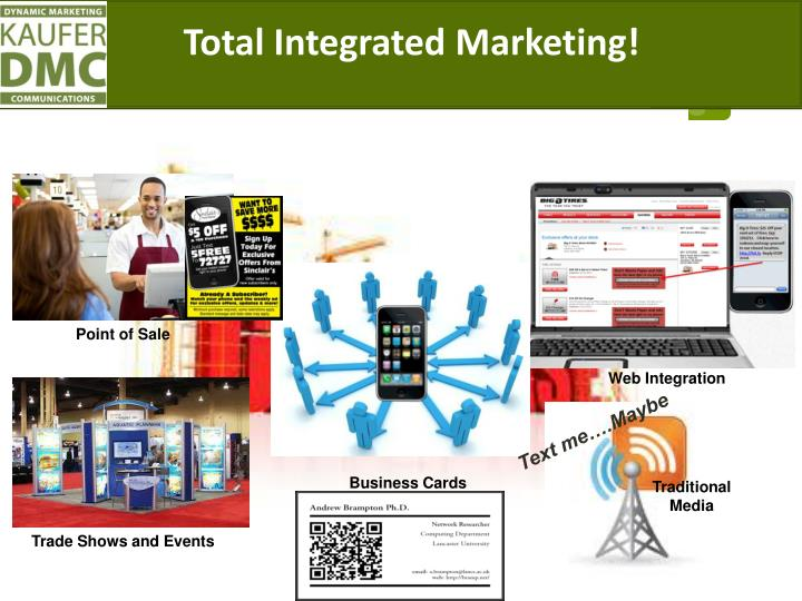 Total Integrated Marketing!