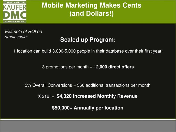 Mobile Marketing Makes Cents