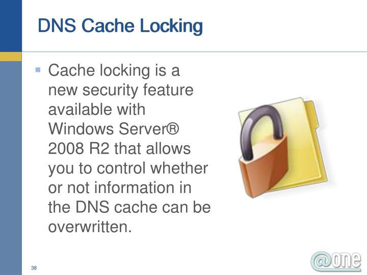 DNS Cache Locking