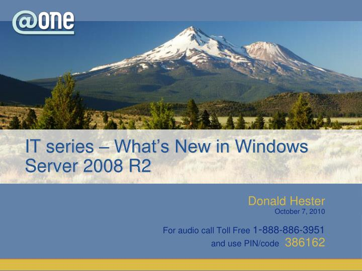 It series what s new in windows server 2008 r2