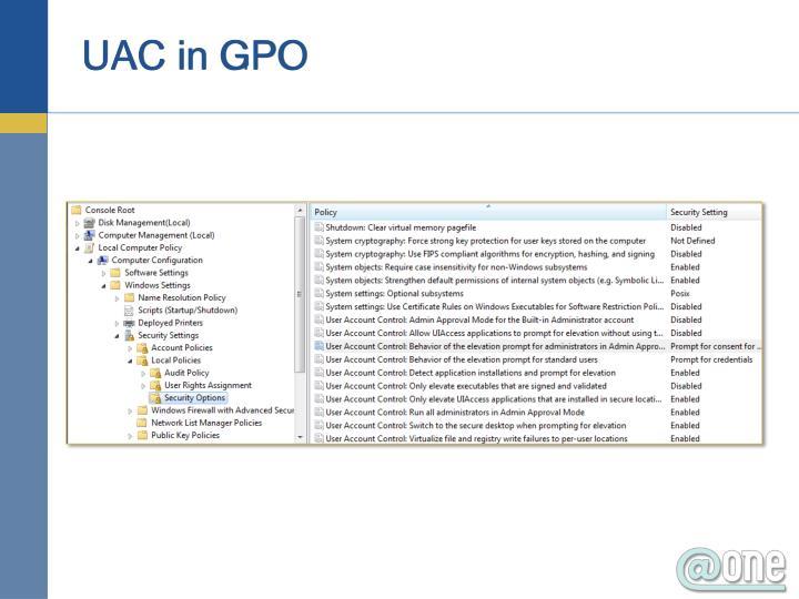 UAC in GPO