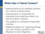 what s new in failover clusters