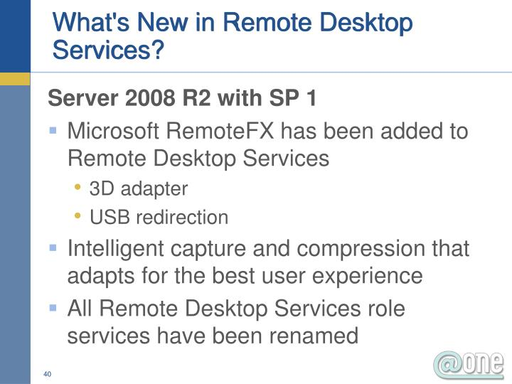 What's New in Remote Desktop