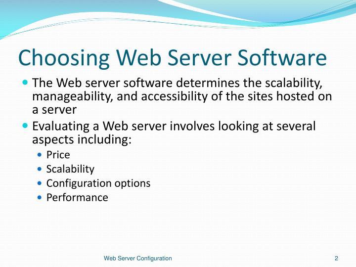 Choosing Web Server Software