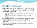 directory indexing