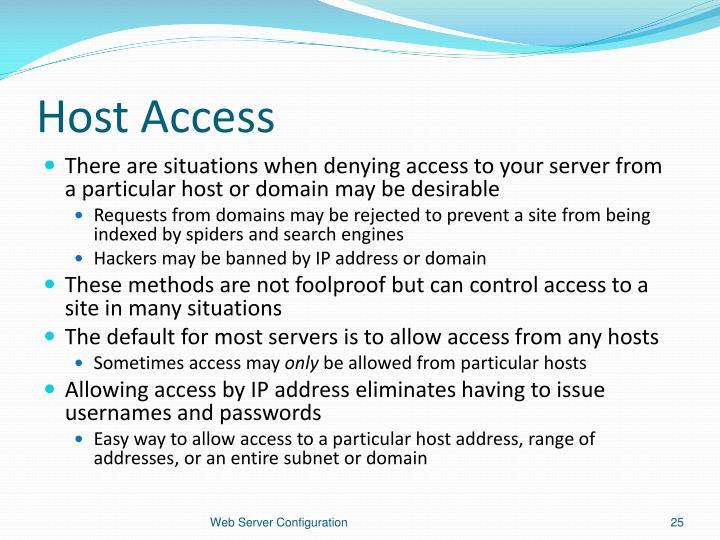 Host Access