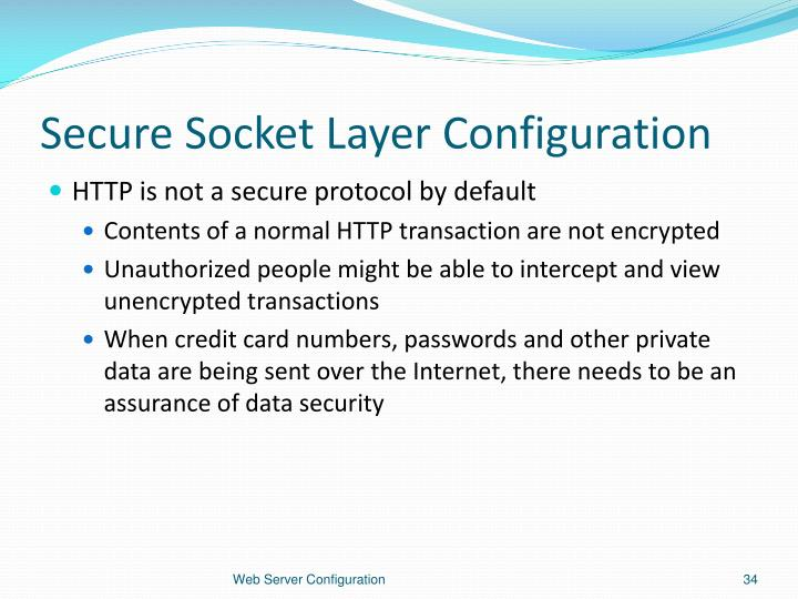 Secure Socket Layer Configuration