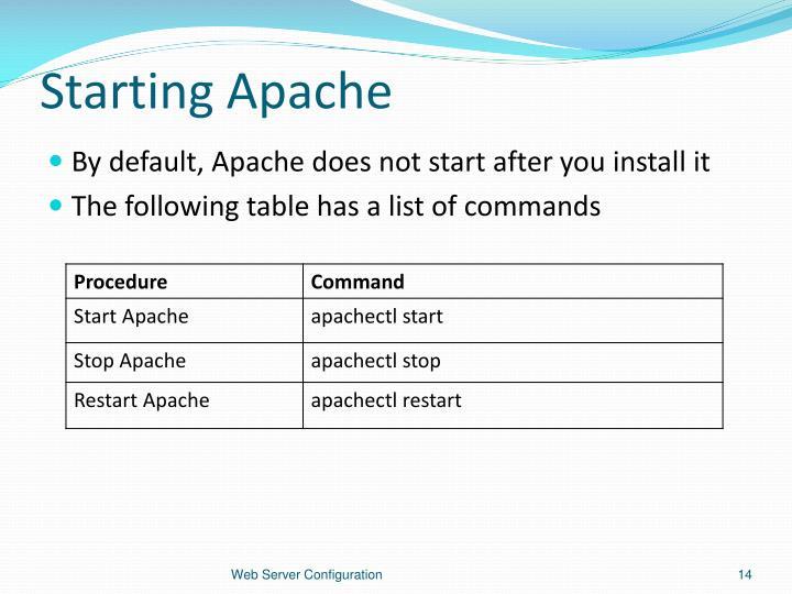 Starting Apache