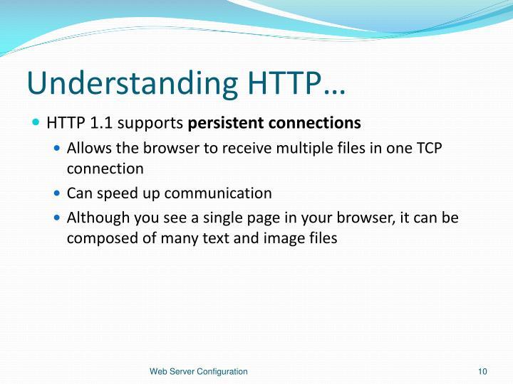 Understanding HTTP…