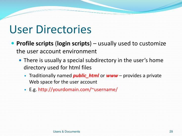 User Directories