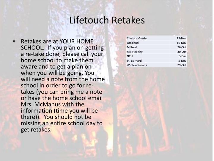 Lifetouch Retakes