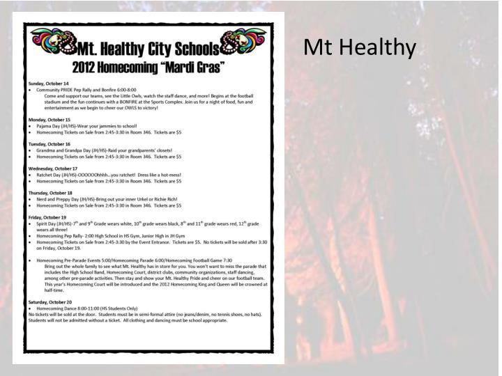 Mt Healthy