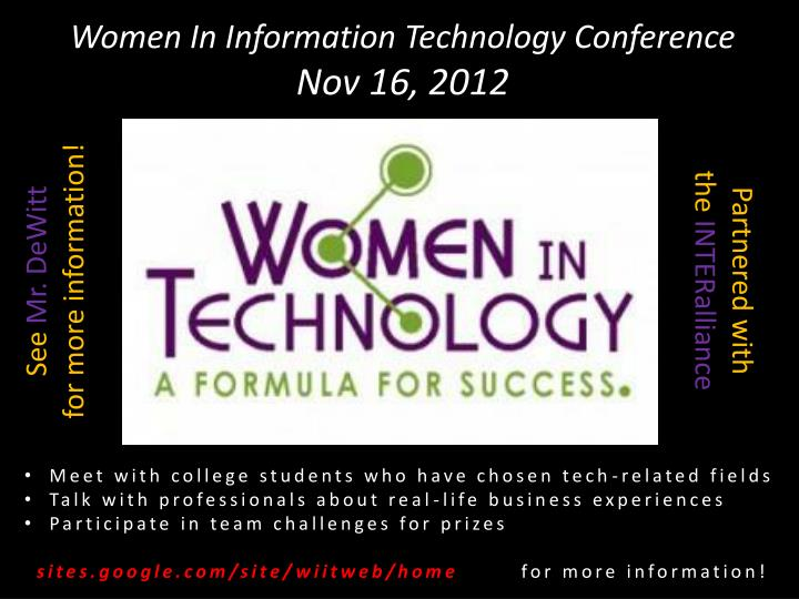 Women In Information Technology Conference