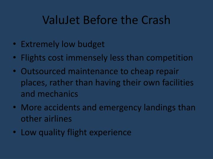 ValuJet Before the Crash