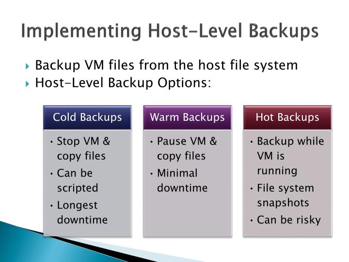 Implementing Host-Level Backups