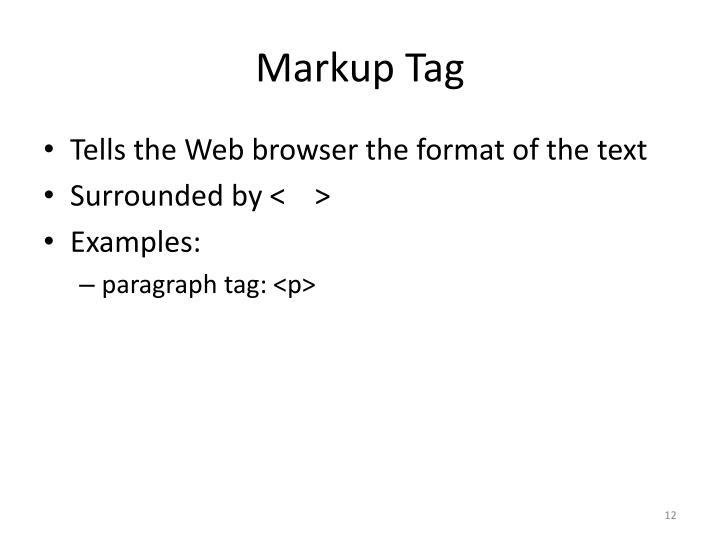 Markup Tag