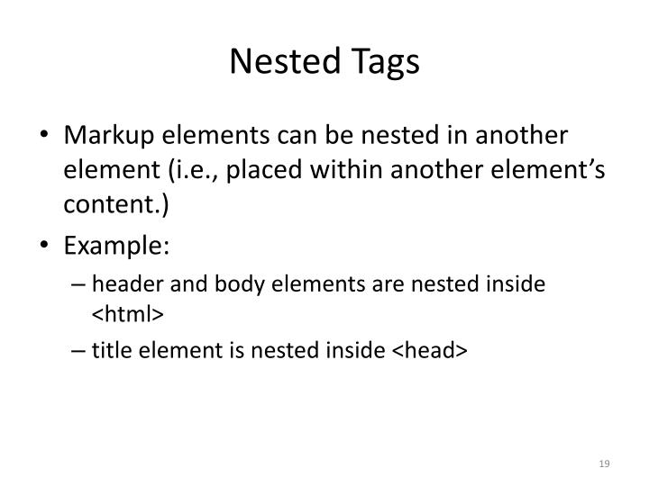 Nested Tags