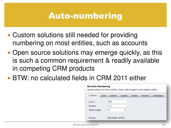 Auto-numbering