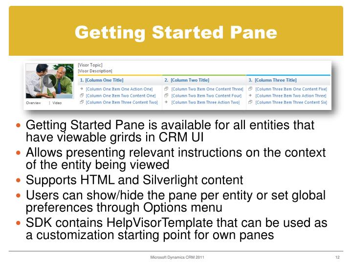 Getting Started Pane