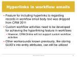 hyperlinks in workflow emails