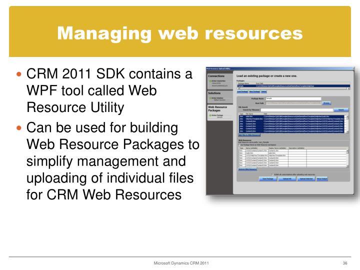 Managing web resources