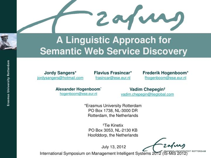 Flexible Semantic Based Service Matchmaking And Discovery