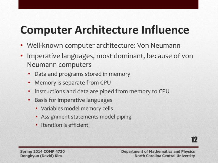 Well-known computer architecture: Von Neumann