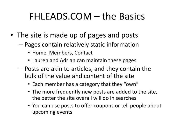 FHLEADS.COM – the Basics
