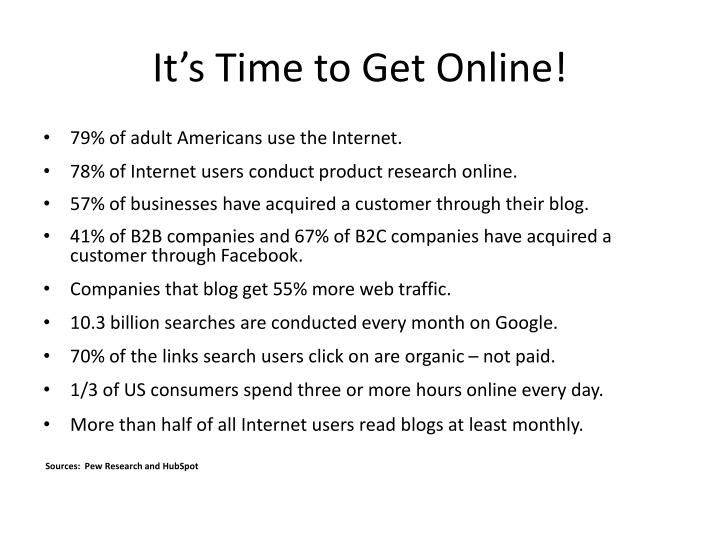 It's Time to Get Online!