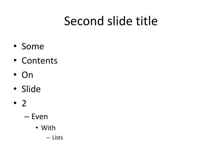 Second slide title