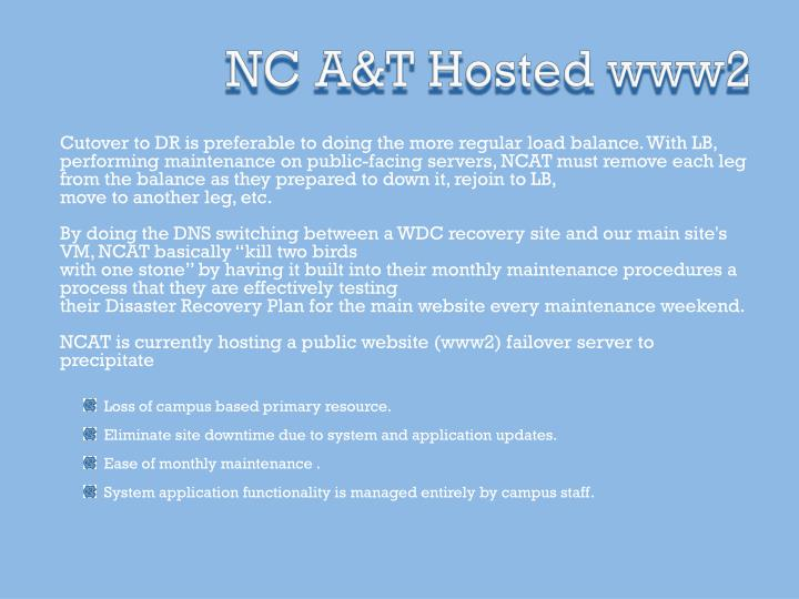 NC A&T Hosted www2