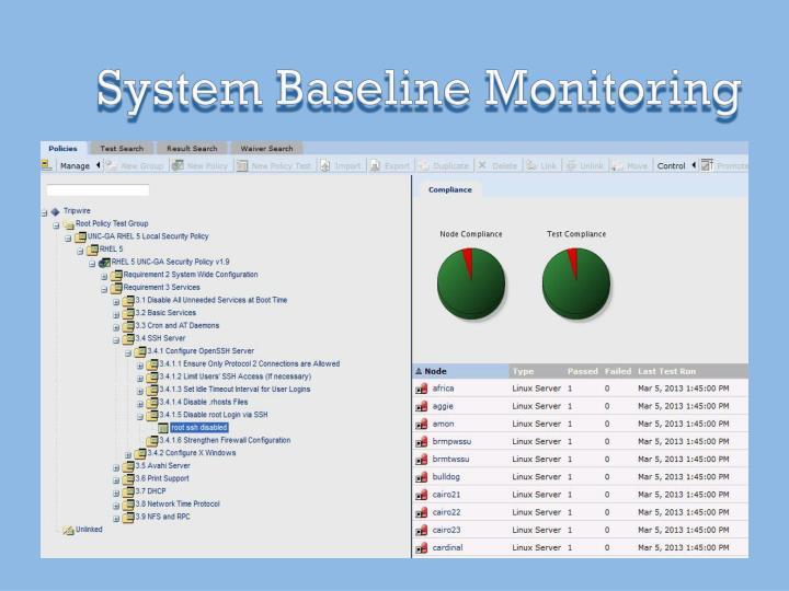 System Baseline Monitoring