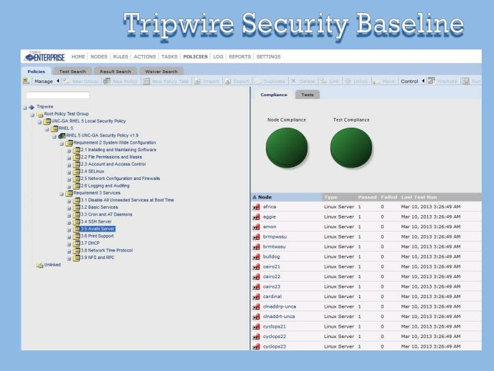 Tripwire Security Baseline