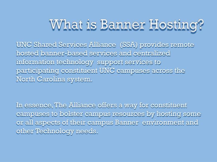 What is banner hosting