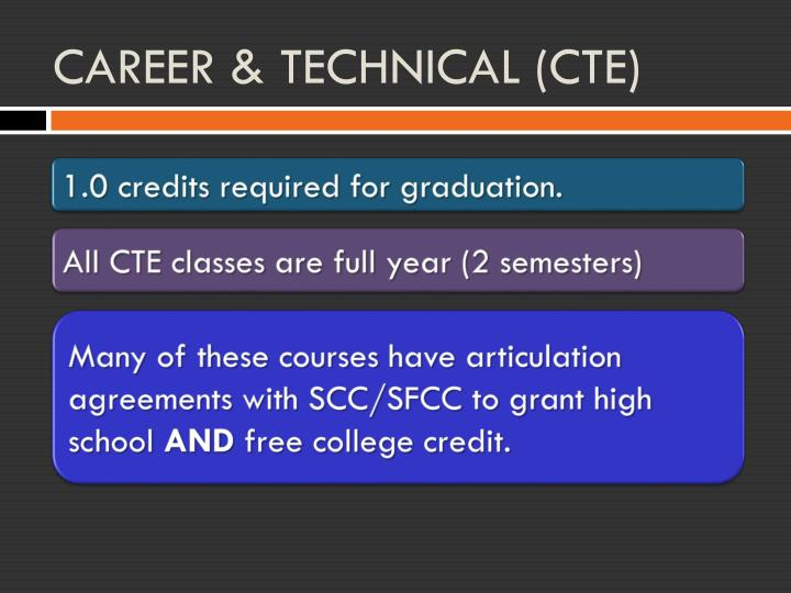 CAREER & TECHNICAL (CTE)