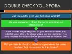 double check your form