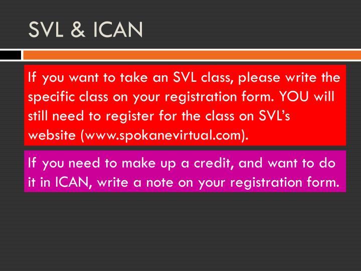 SVL & ICAN