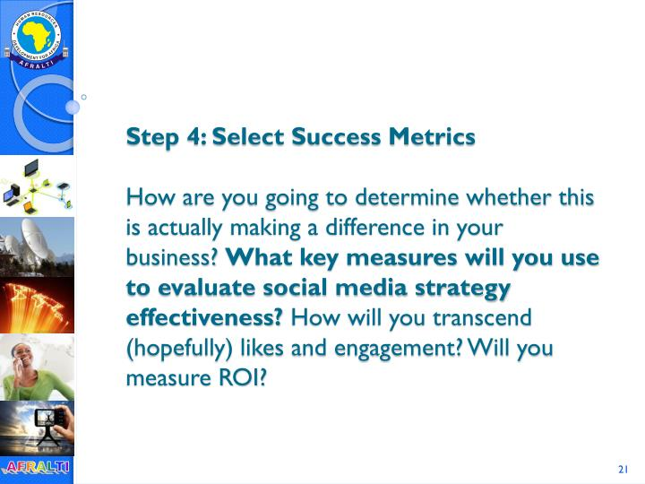 Step 4: Select Success Metrics