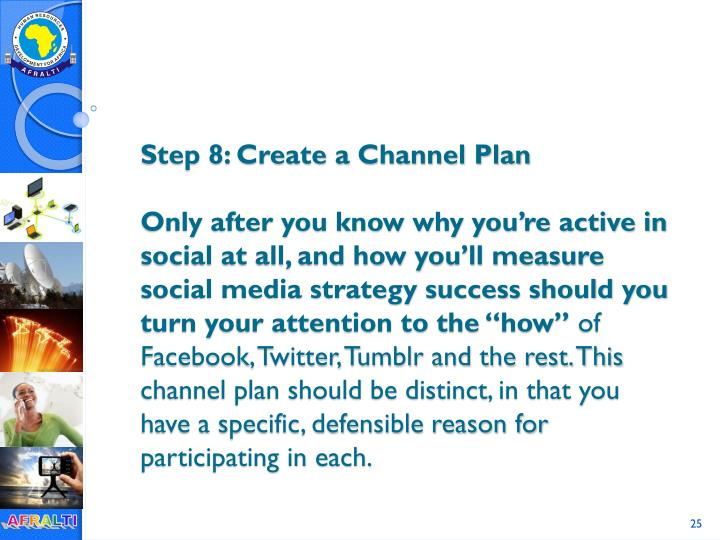 Step 8: Create a Channel Plan