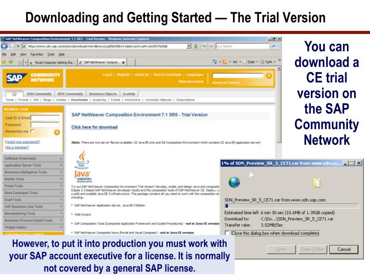 Downloading and Getting Started — The Trial Version